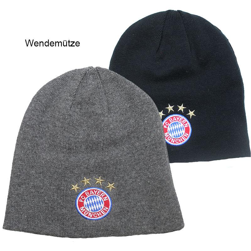 FC Bayern München Mütze Wendewoolie Logo
