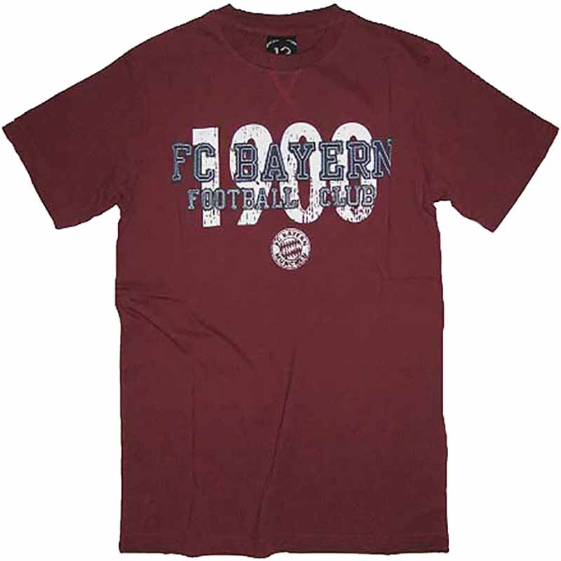 FC Bayern München T-Shirt Football Club 1900 bordeaux
