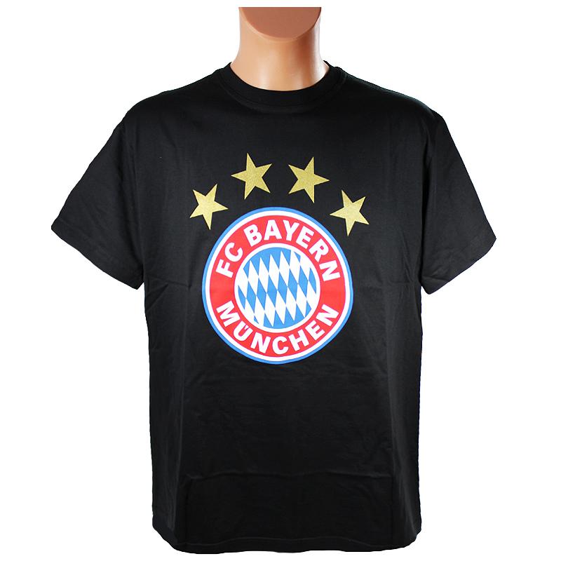 FC Bayern München T-Shirt Logo schwarz