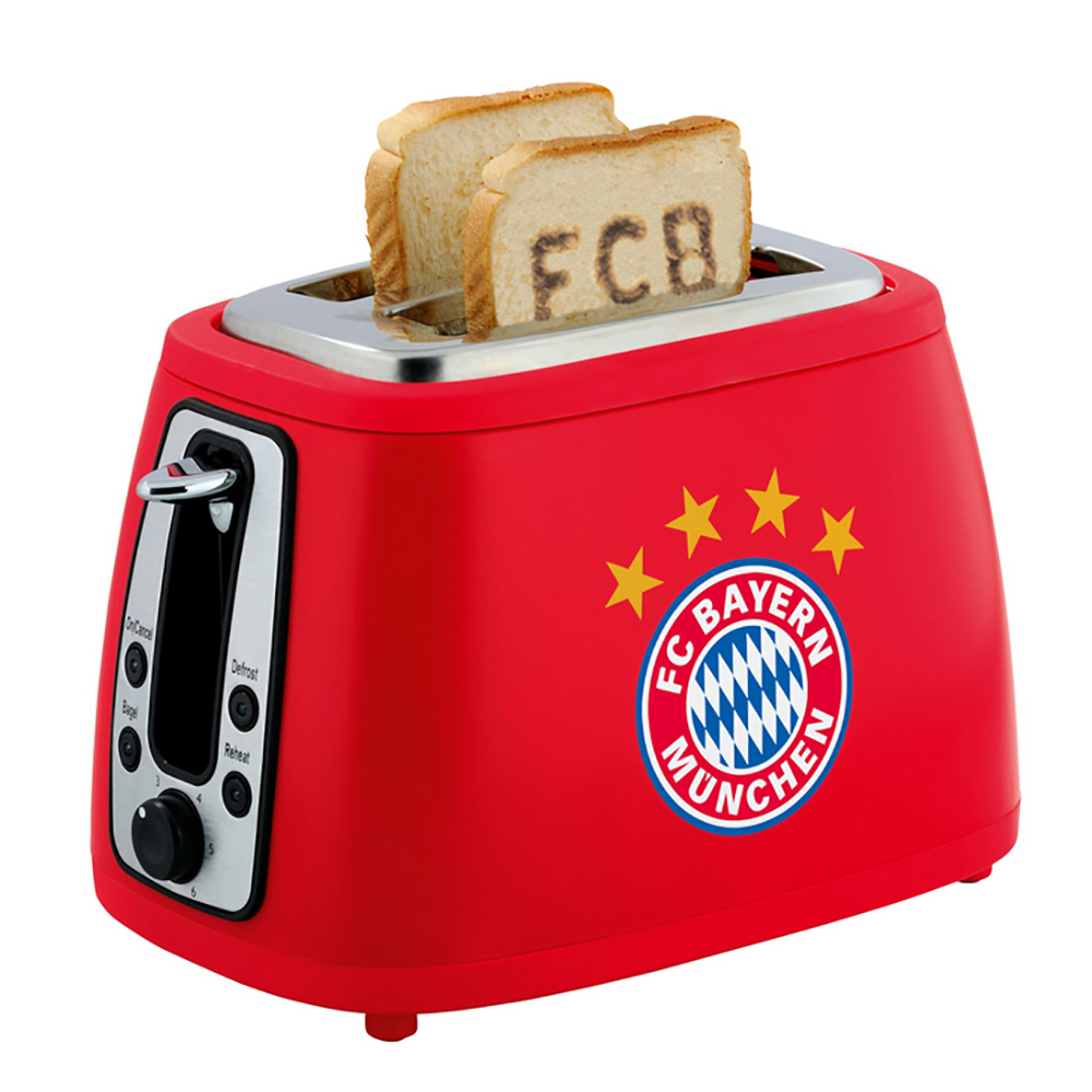 fc bayern m nchen toaster mit sound stern des s dens ebay. Black Bedroom Furniture Sets. Home Design Ideas