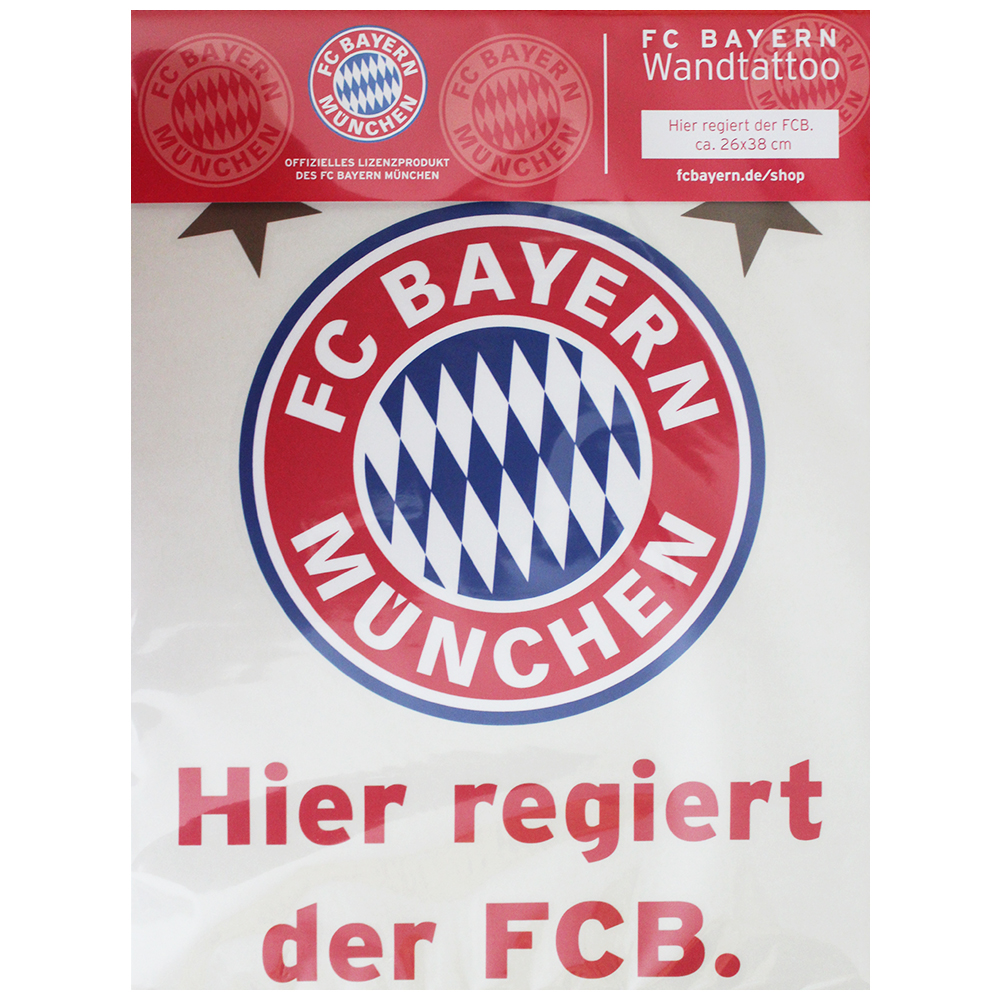 fc bayern m nchen wandtattoo hier regiert der fcb. Black Bedroom Furniture Sets. Home Design Ideas