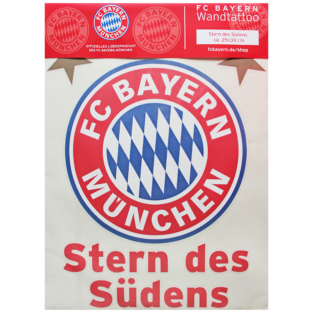 fc bayern m nchen wandtattoo stern des s dens. Black Bedroom Furniture Sets. Home Design Ideas