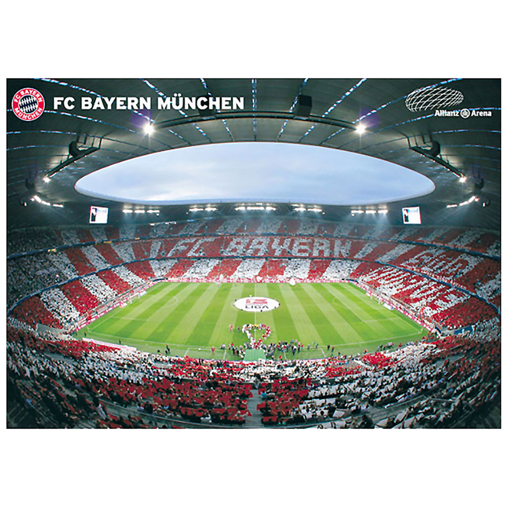 fc bayern m nchen poster allianz arena innenraum 360 grad ebay. Black Bedroom Furniture Sets. Home Design Ideas