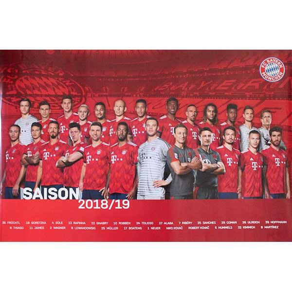 FC Bayern München Poster Team 2018/2019
