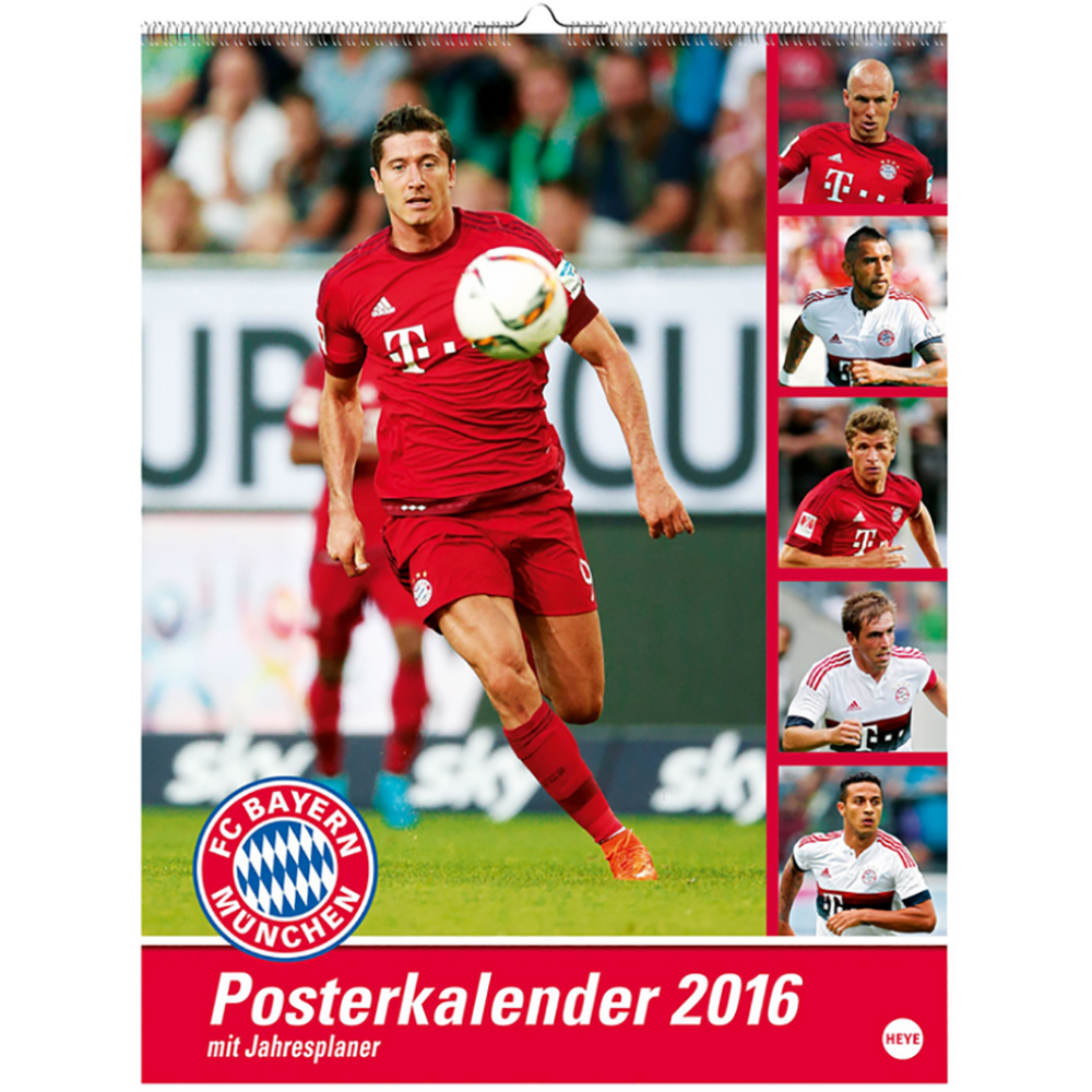 FC Bayern München Posterkalender 2016