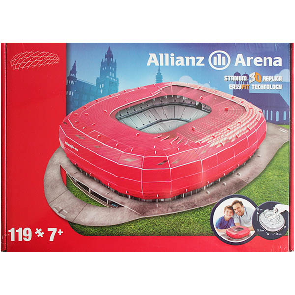allianz arena 3d stadionpuzzle. Black Bedroom Furniture Sets. Home Design Ideas