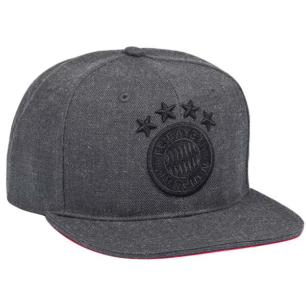 fc bayern m nchen snapback cap emblem anthrazit. Black Bedroom Furniture Sets. Home Design Ideas