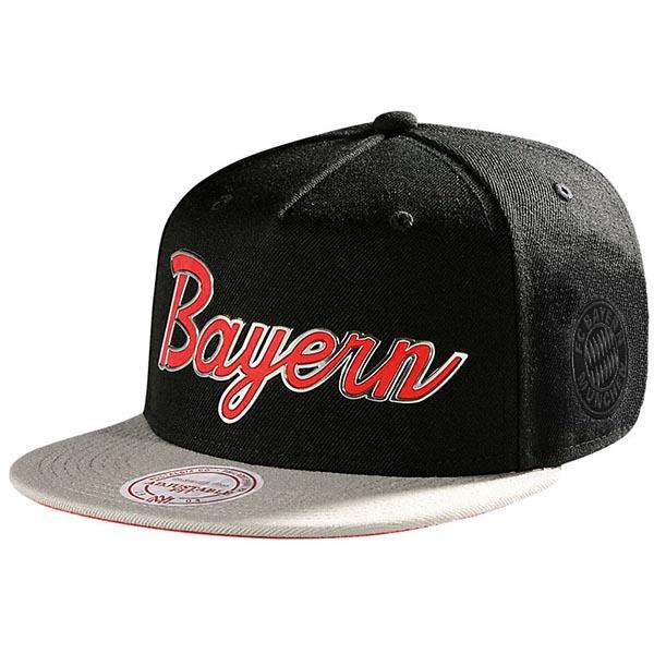 FC Bayern München Cap Snapback schwarz grau