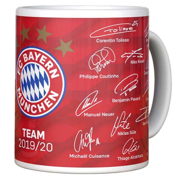 FC Bayern München Tasse Unterschriften 2019/2020