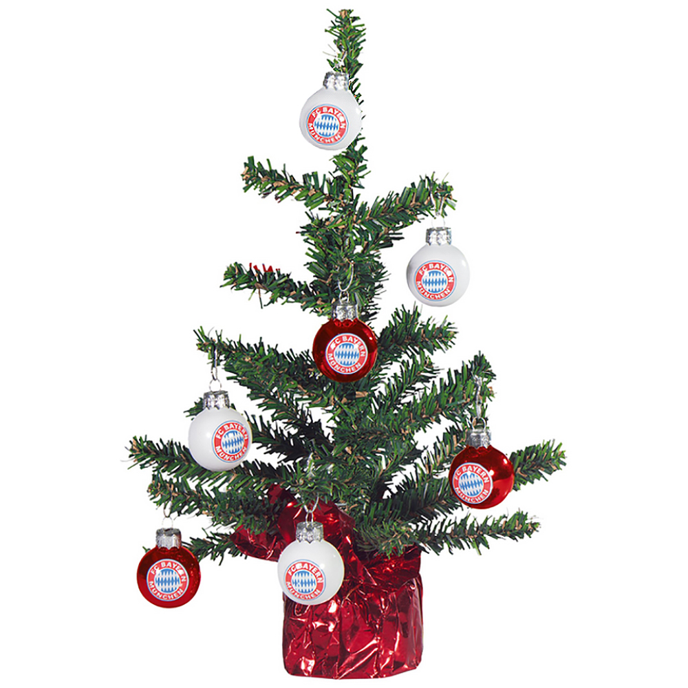 fc bayern m nchen weihnachtsbaum christbaum mit weihnachtsbaumkugeln ebay. Black Bedroom Furniture Sets. Home Design Ideas