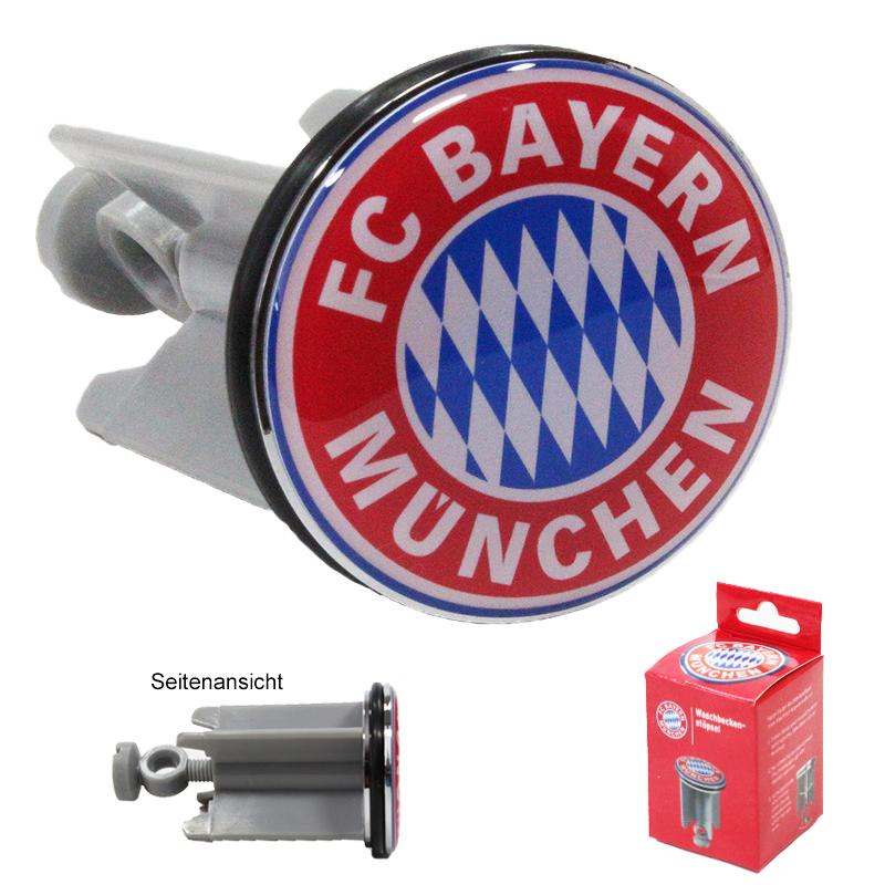 FC Bayern München Waschbecken Stöpsel Logo