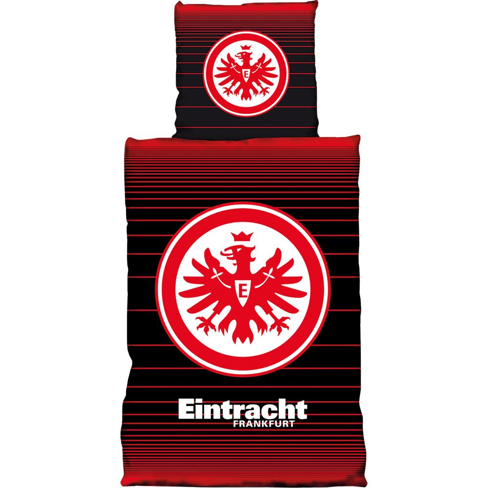 Eintracht Frankfurt Bettwäsche Linien Biber