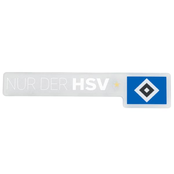 HSV Aufkleber Nur der HSV 3D weiss