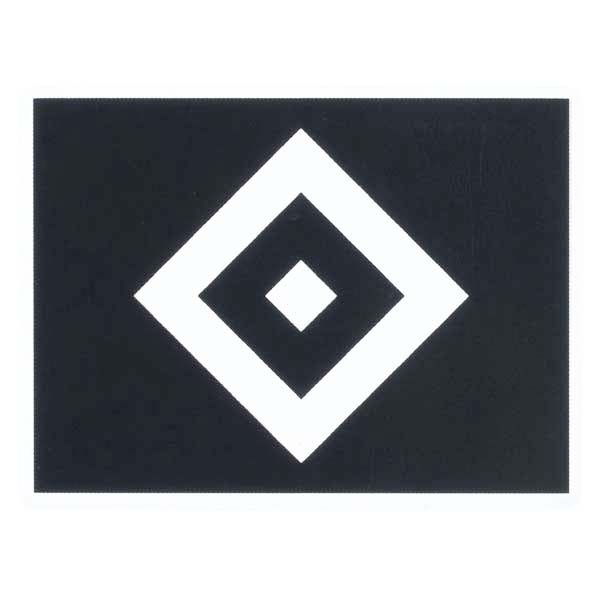 HSV Aufkleber HSV Logo schwarz transparent