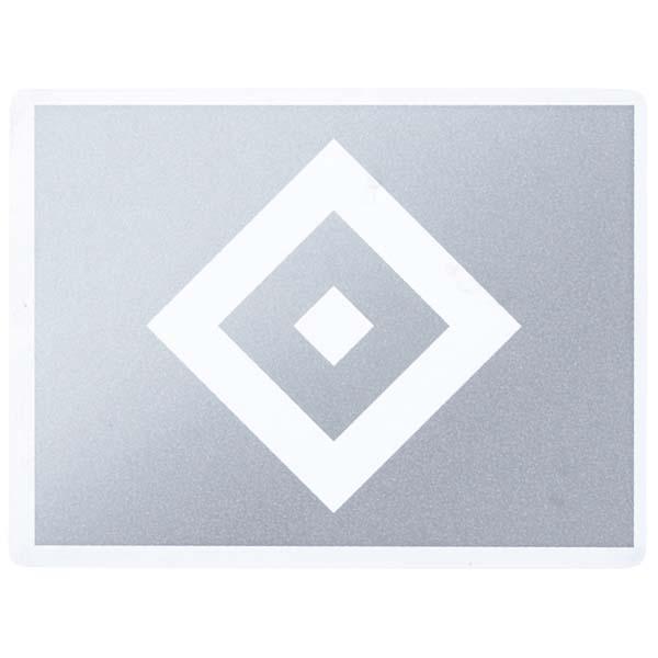 HSV Aufkleber HSV Logo silber transparent