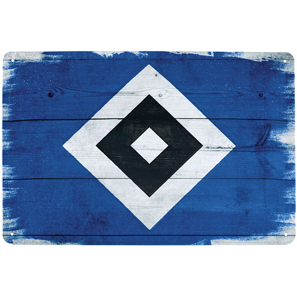 HSV Blechschild HSV Logo Raute