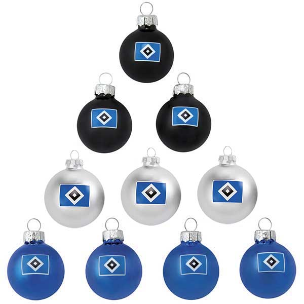 HSV Christbaumkugeln Mini 10er-Set
