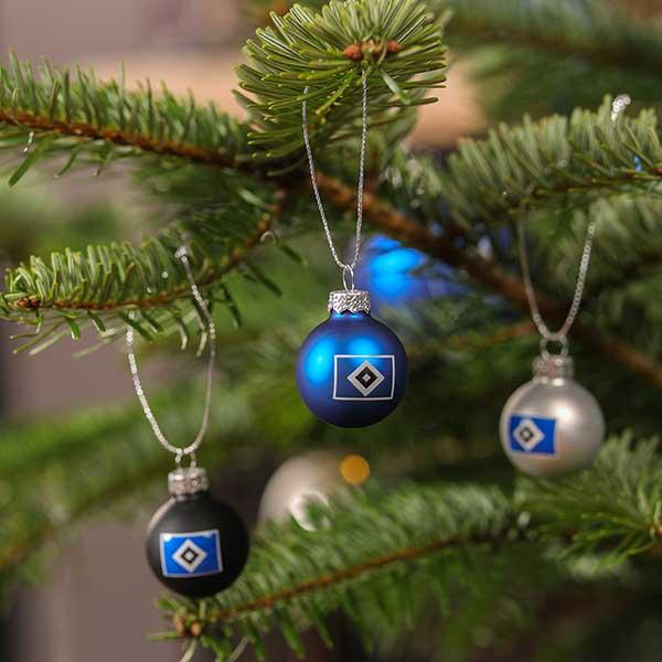 HSV Weihnachtsbaumkugeln Christbaumkugeln Weihnachtskugeln 4er-Set Fanartikel