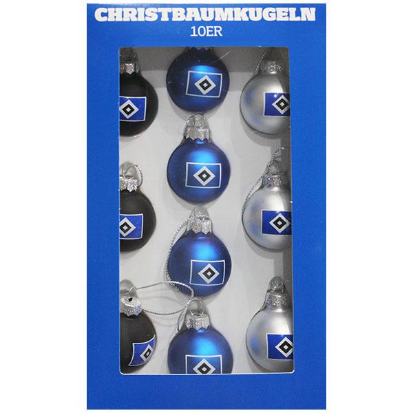 Christbaumkugeln Mini.Hsv Christbaumkugeln Mini 10er Set