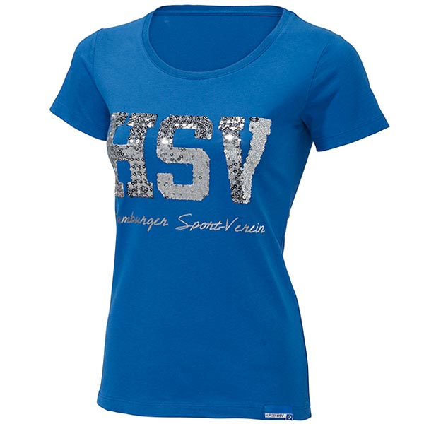 HSV T-Shirt Damen HSV Pailletten