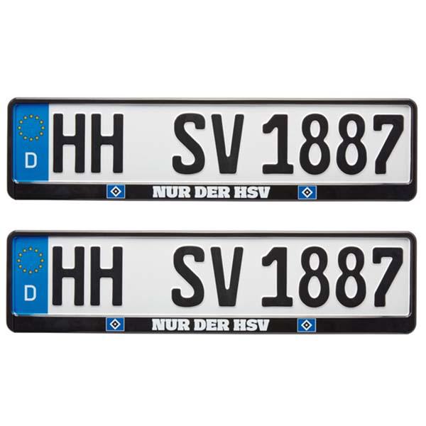 HSV Kennzeichenverstärker Nur der HSV 2er-Set