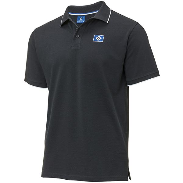 HSV Poloshirt Raute schwarz