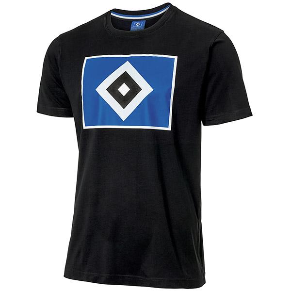 HSV T-Shirt Raute schwarz