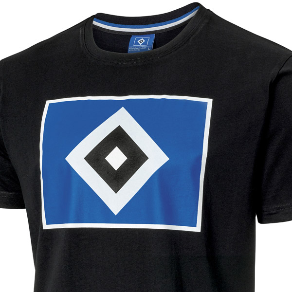 Hamburger SV HSV Shirt//T-Shirt ** Raute schwarz ** 29900