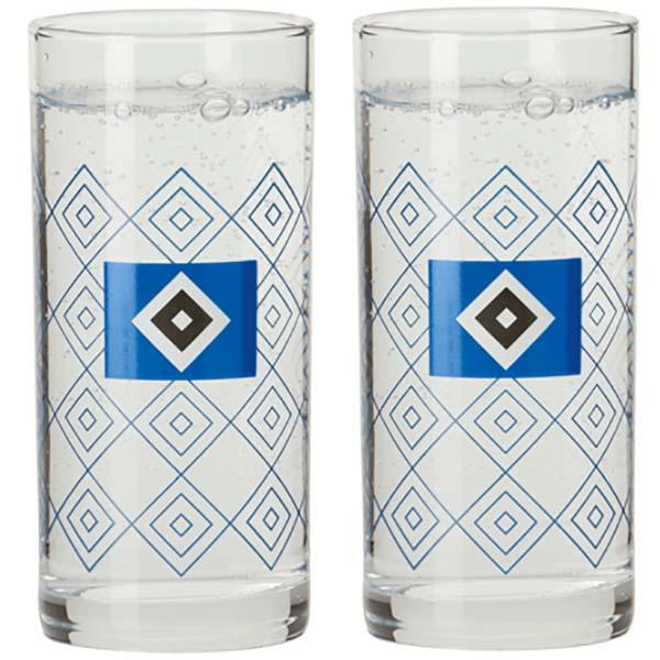 HSV Trinkglas HSV Logo 2er-Set