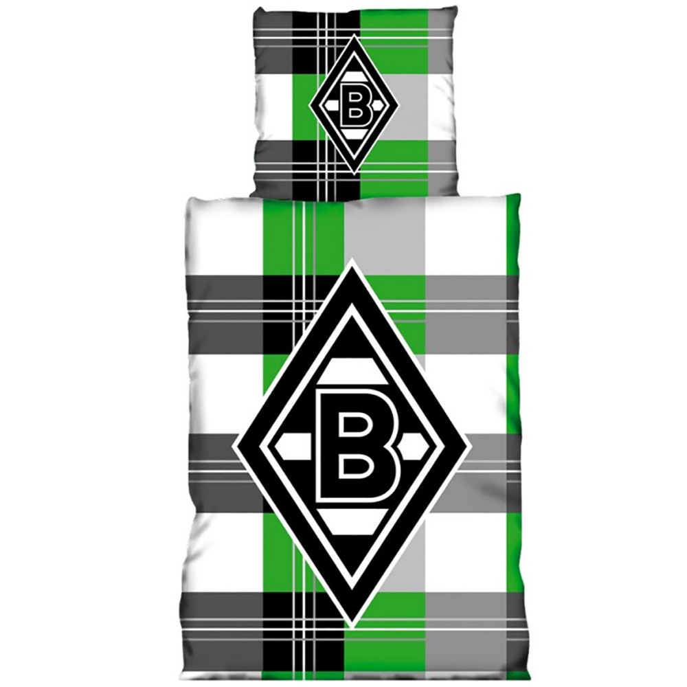 Borussia Mönchengladbach Bettwäsche Karo