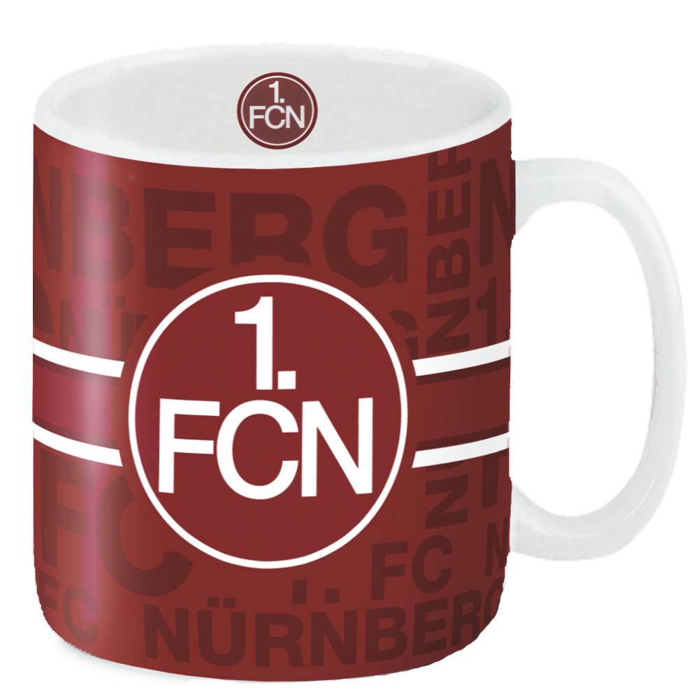 1. FC Nürnberg Becher Logo Allover