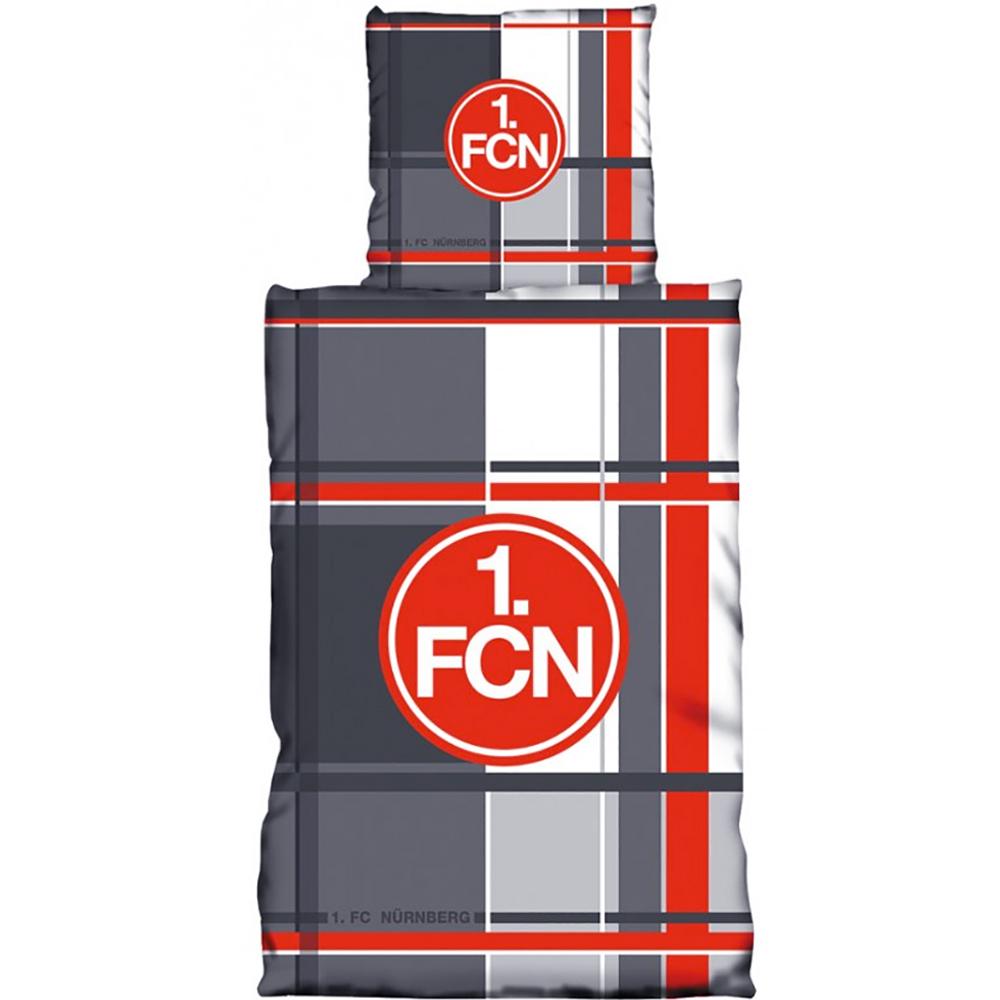 1. FC Nürnberg Bettwäsche Karo