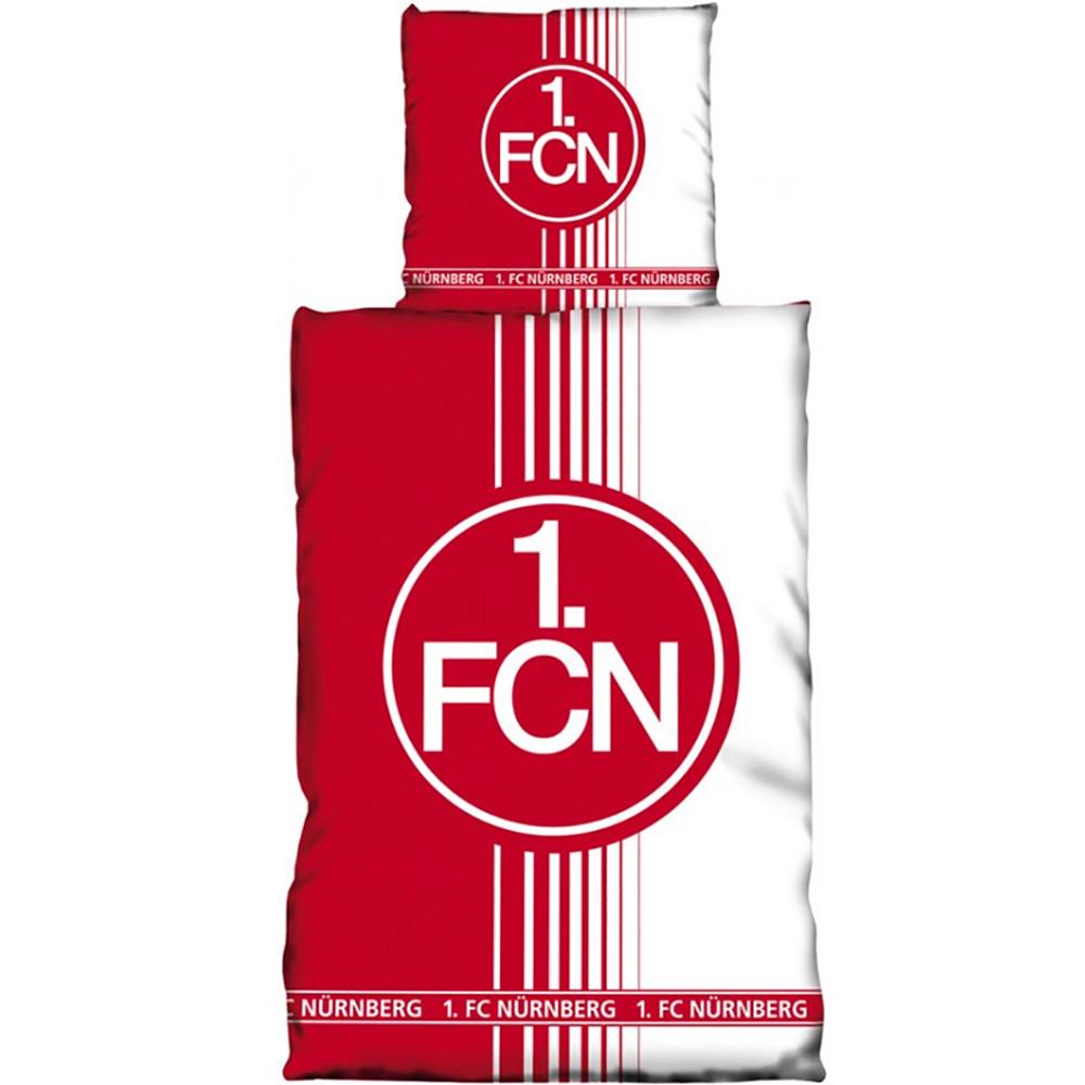 1. FC Nürnberg Bettwäsche rot weiß