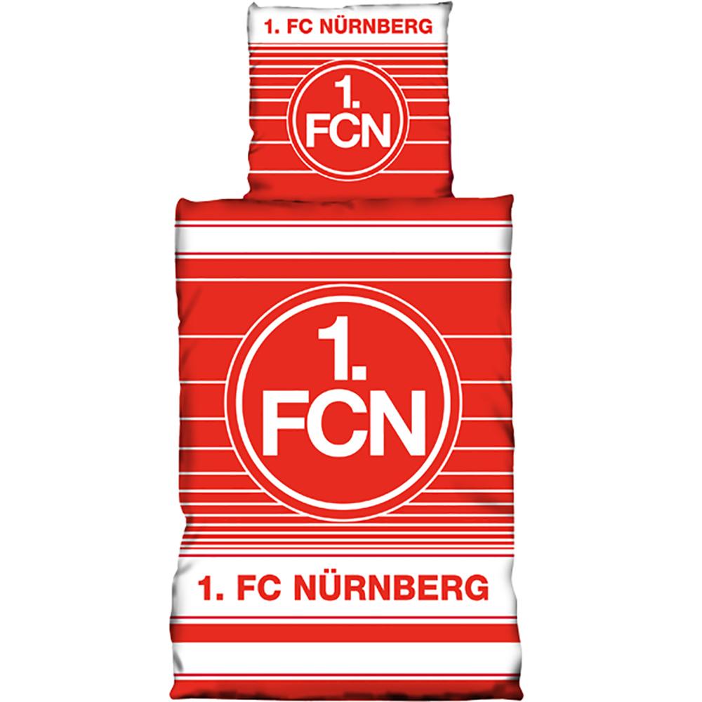 1. FC Nürnberg Bettwäsche Streifenspiel Biber