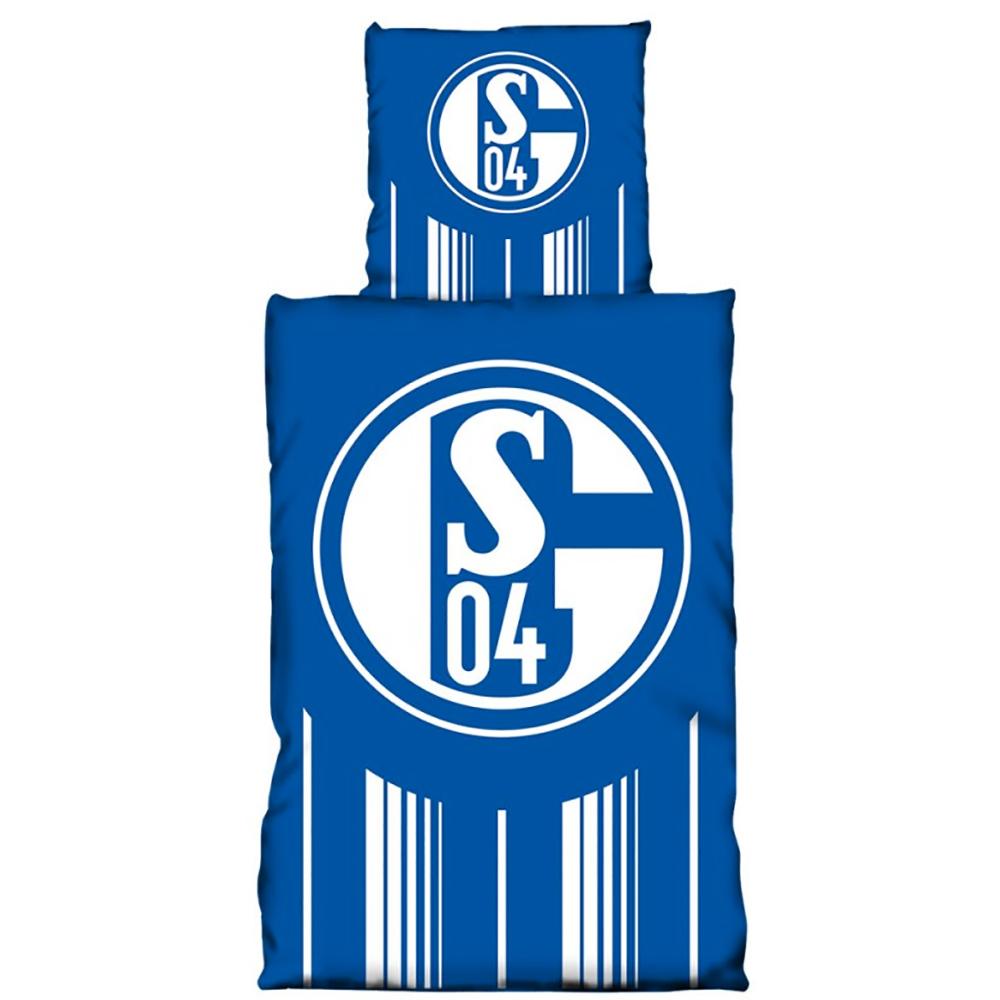 FC Schalke 04 Bettwäsche Streifen Weiß