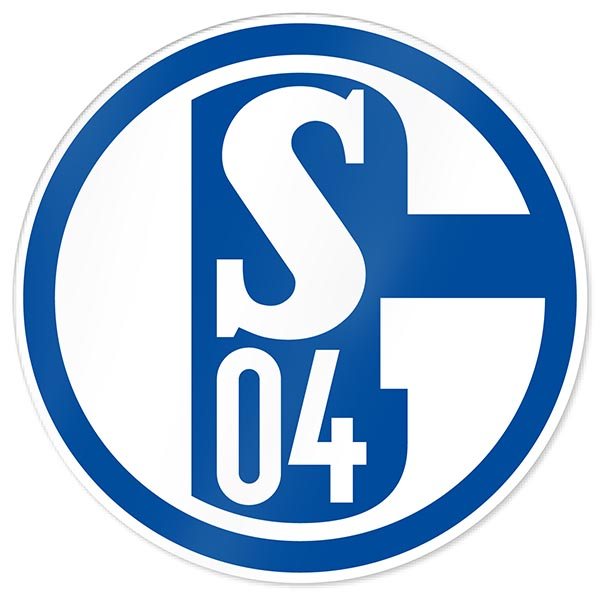 FC Schalke 04 Aufkleber Blau und Weiß
