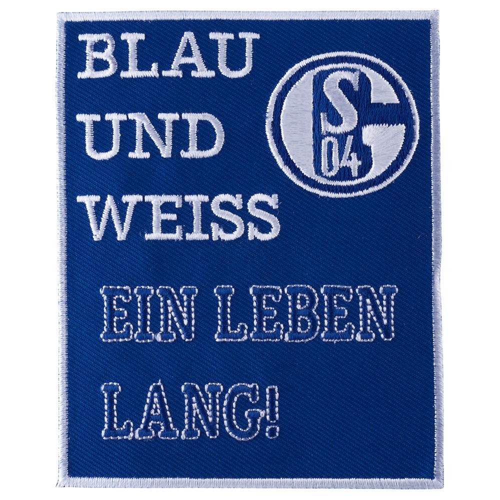 FC Schalke 04 Aufnäher Blau und Weiss