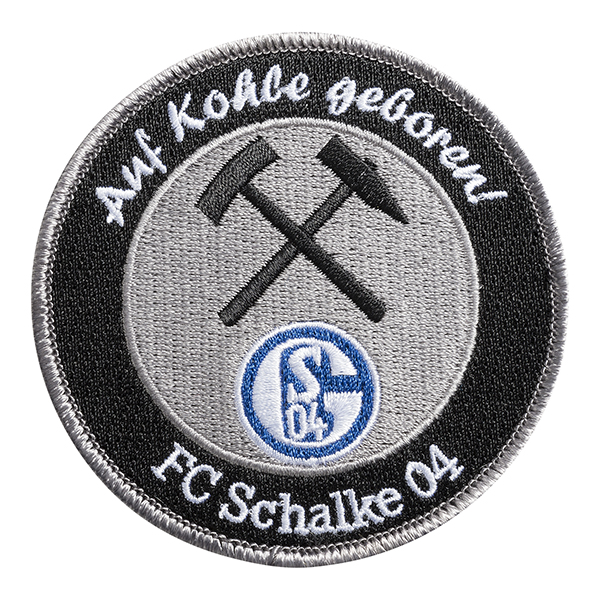 FC Schalke 04 Aufnäher Auf Kohle geboren