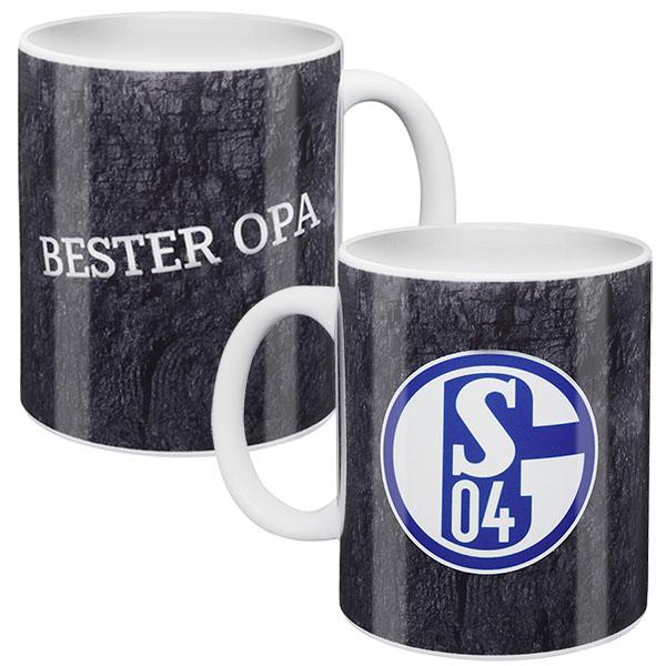 FC Schalke 04 Tasse Bester Opa grau