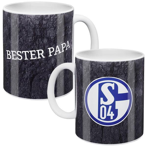 FC Schalke 04 Tasse Bester Papa grau