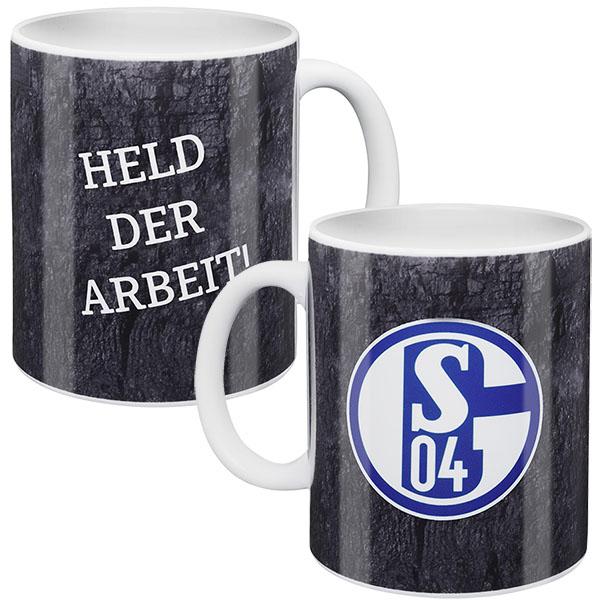 FC Schalke 04 Tasse Held der Arbeit grau