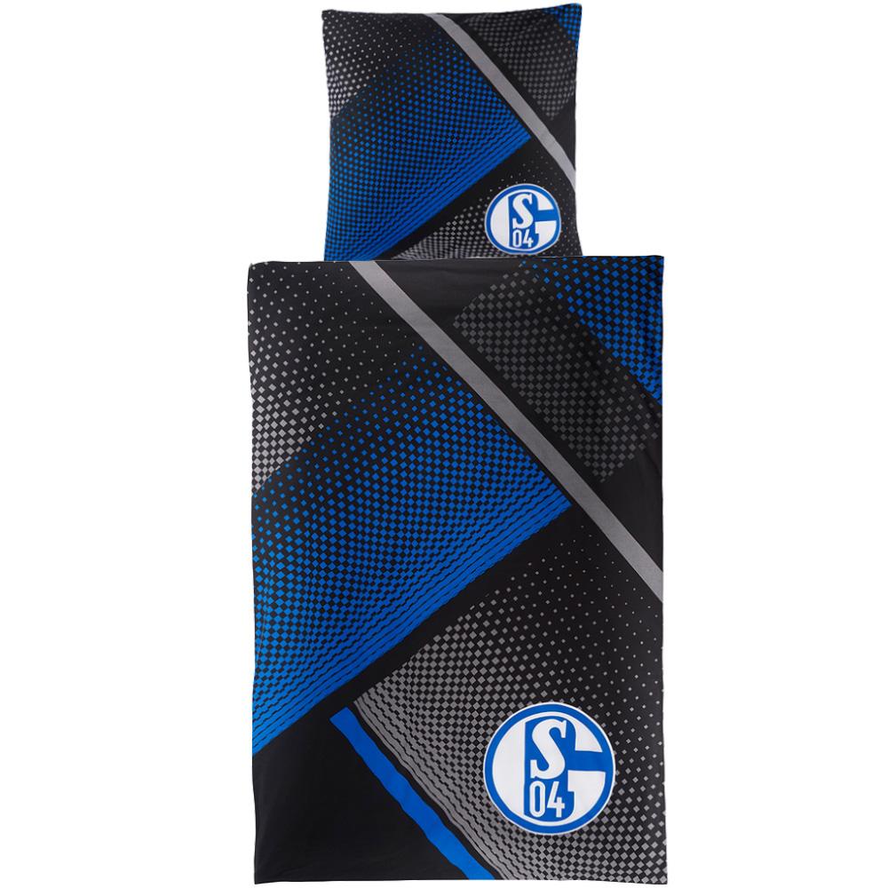 FC Schalke 04 Bettwäsche Grau Blau