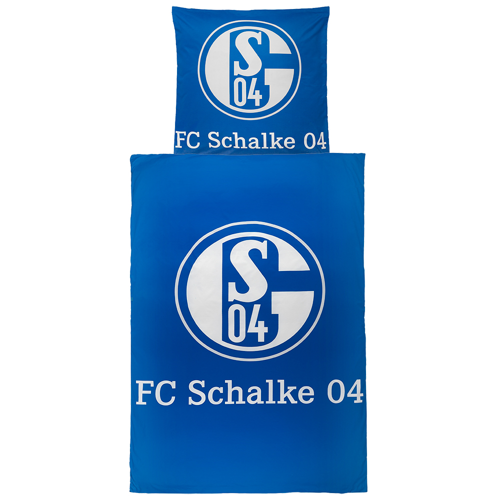 fc schalke 04 bettw sche signet microfaser fc schalke 04. Black Bedroom Furniture Sets. Home Design Ideas