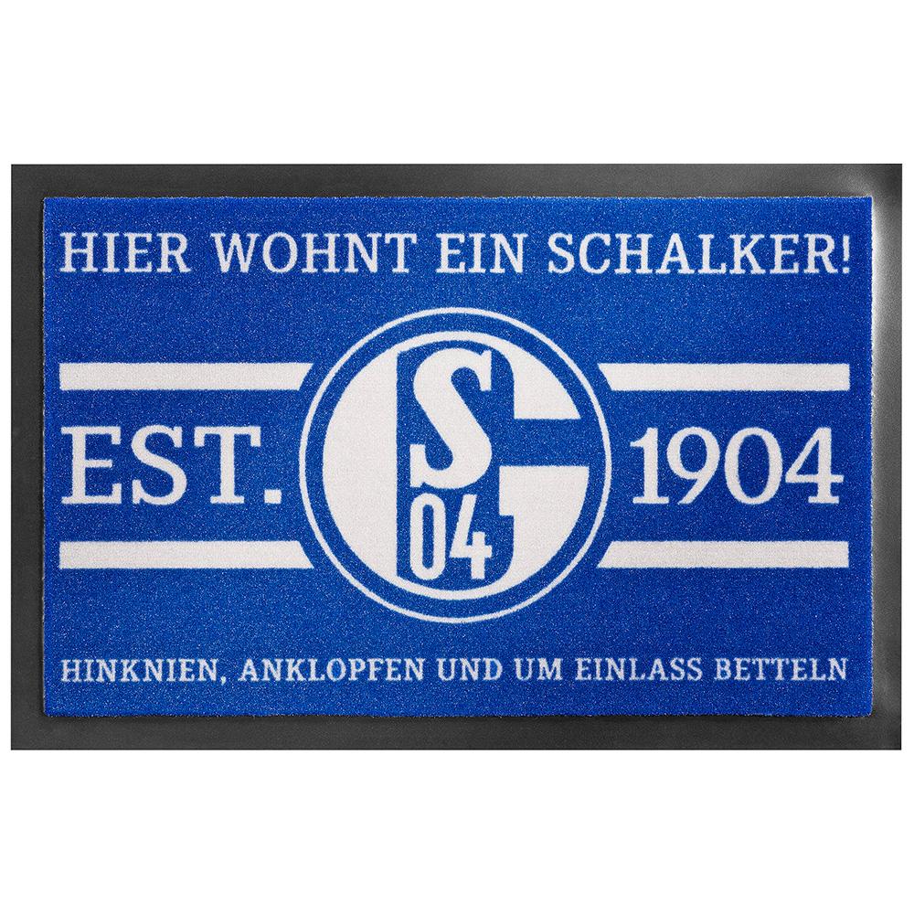 FC Schalke 04 Fussmatte Hier wohnt ein Schalker