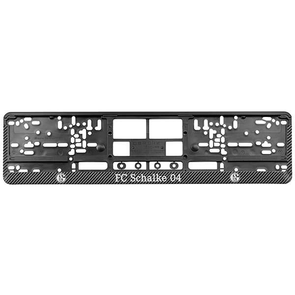 FC Schalke 04 Kennzeichenverstärker Carbon