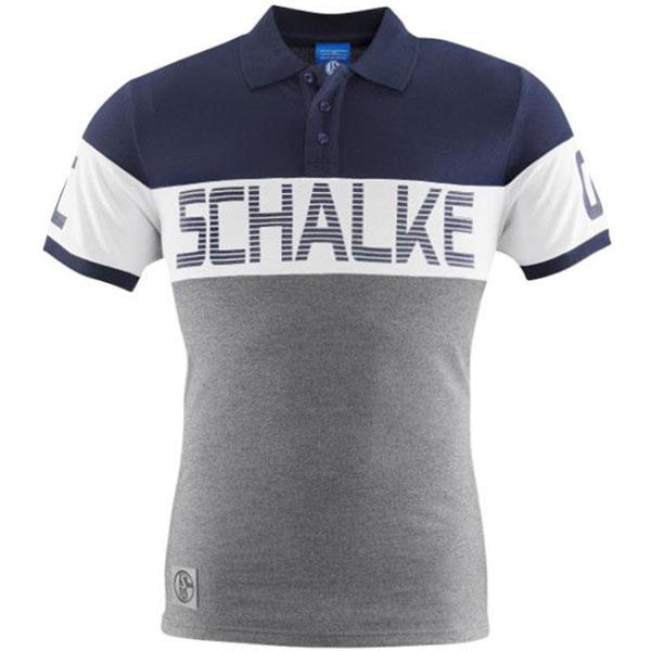 FC Schalke 04 Poloshirt Kontrast weiß
