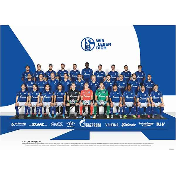 FC Schalke 04 Poster Team 2019/2020