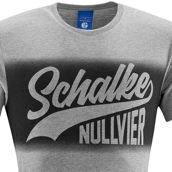 FC Schalke 04 T Shirt Nullvier grau
