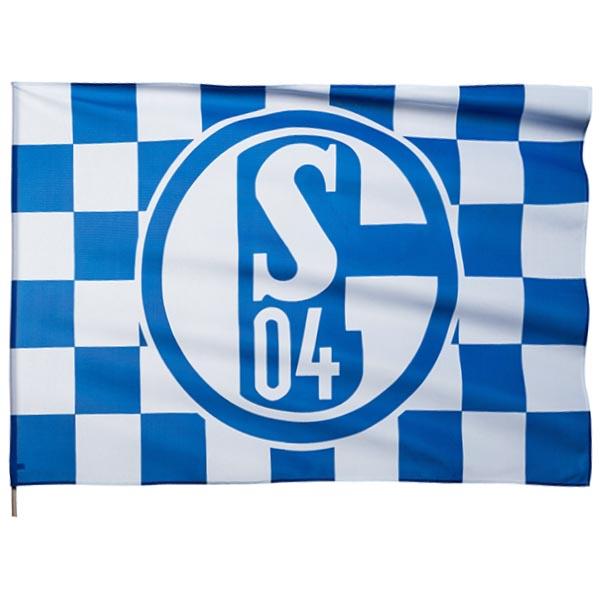 FC Schalke 04 Schwenkfahne Karo 90 x 60 cm