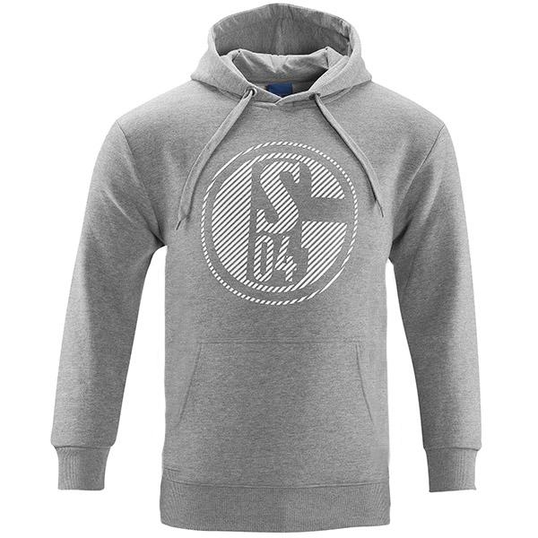 FC Schalke 04 Sweatshirt Kapuze Classic grau